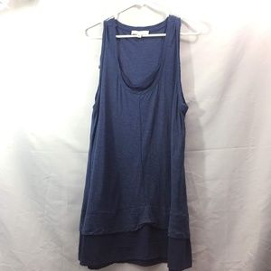 Two By Vince Camuto Size XL Blue Tunic Tank Top